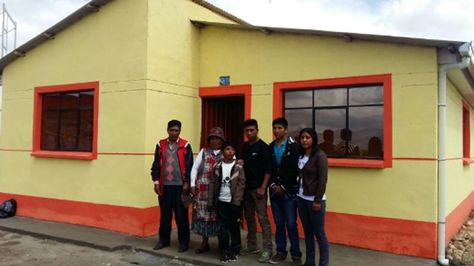 Una de las 159 viviendas entregadas por el vicepresidente Álvaro García en Achacachi
