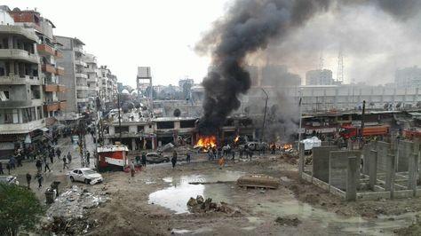 Explosión de un coche bomba en Siria.
