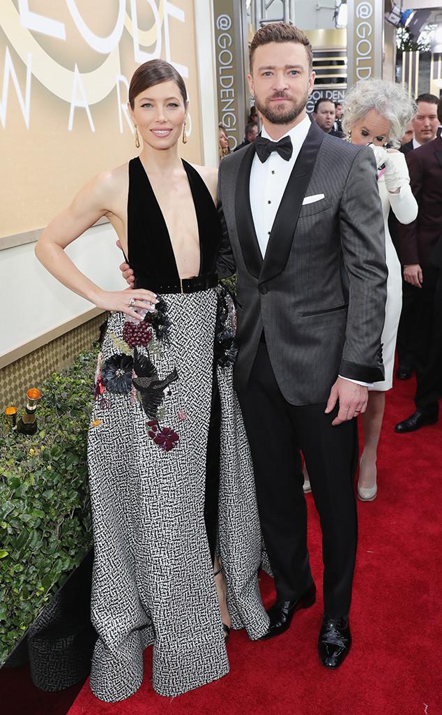 Jessica Biel, Justin Timberlake, 2017 Golden Globes, Couples