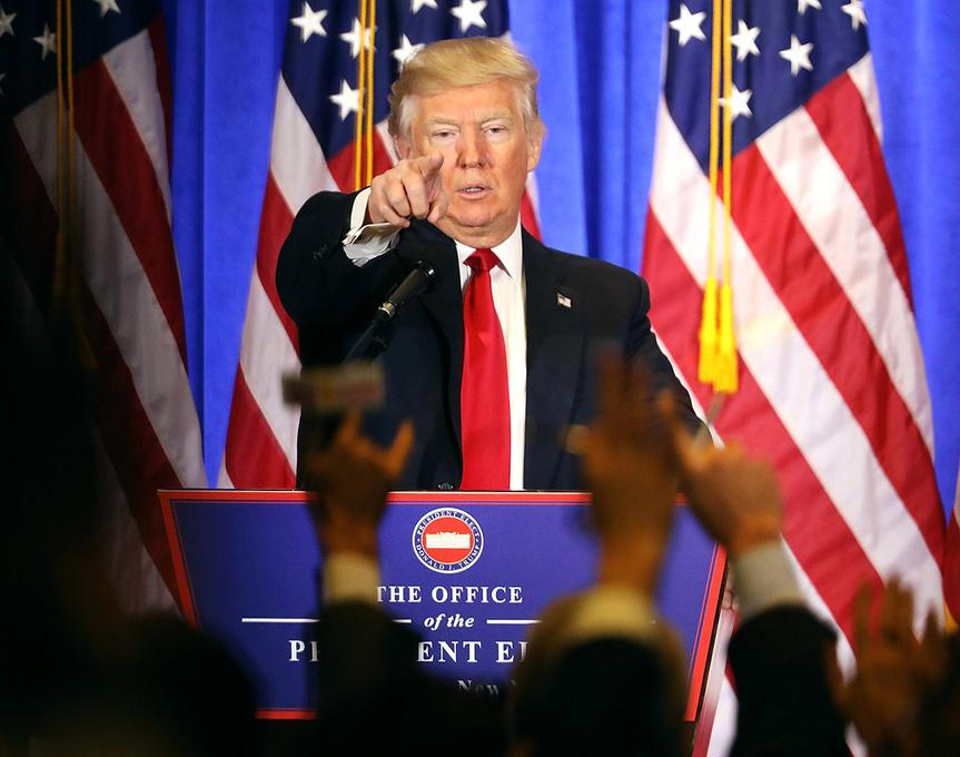 Donald Trump, durante su rueda de prensa.
