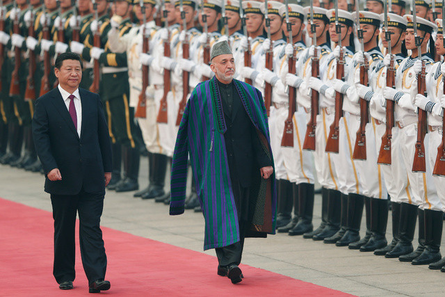 Hamid Karzai durante una visita a Pekín en 2013.