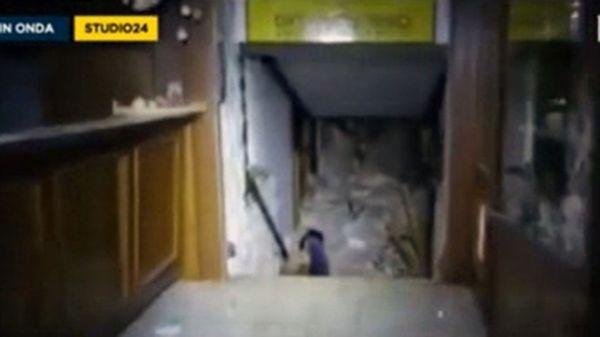 Así encontraron los rescatistas el interior de Hotel