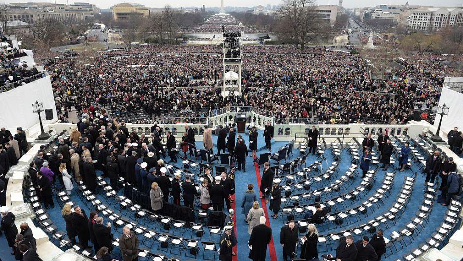 Así luce la Esplanada Nacional de Washington minutos antes de que inicie la ceremonia de investidura del presidente Donald Trump. (Crédito: Getty Images)