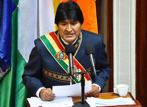 Resultado de imagen para Morales subraya crecimiento de la Policía Boliviana y de su parque automotor