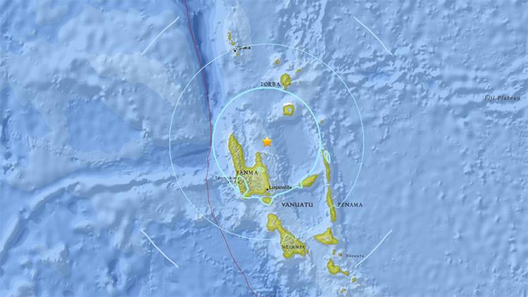 Fuerte sismo de magnitud 5,9 sacude el océano Pacífico