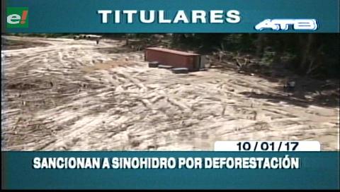 Video titulares de noticias de TV – Bolivia, noche del martes 10 de enero de 2017