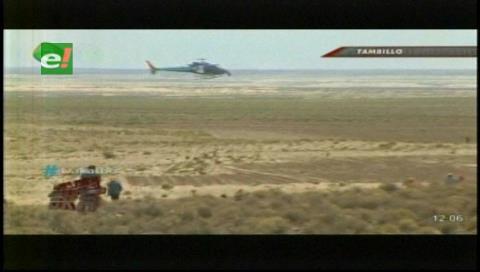 ¿Gestión? Evo dedica el día al Dakar y hasta corre…en helicóptero