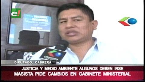 Diputado Cabrera sugiere cambios en los ministerios de Justicia y Medio Ambiente