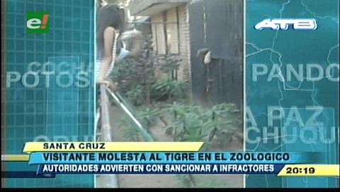 Zoológico Municipal: Autoridades advierten con sanciones a visitantes que molesten a los animales
