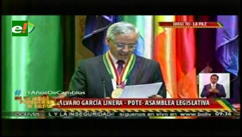 """García Linera: falleció """"la globalización neoliberal"""" y el """"socialismo comunitario"""" puede reemplazarla"""