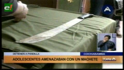Atrapan a una pandilla que asaltaban a transeúntes en Cochabamba