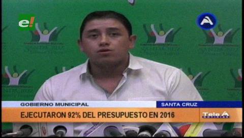 Municipio cruceño alcanzó el 92% de ejecución presupuestaria