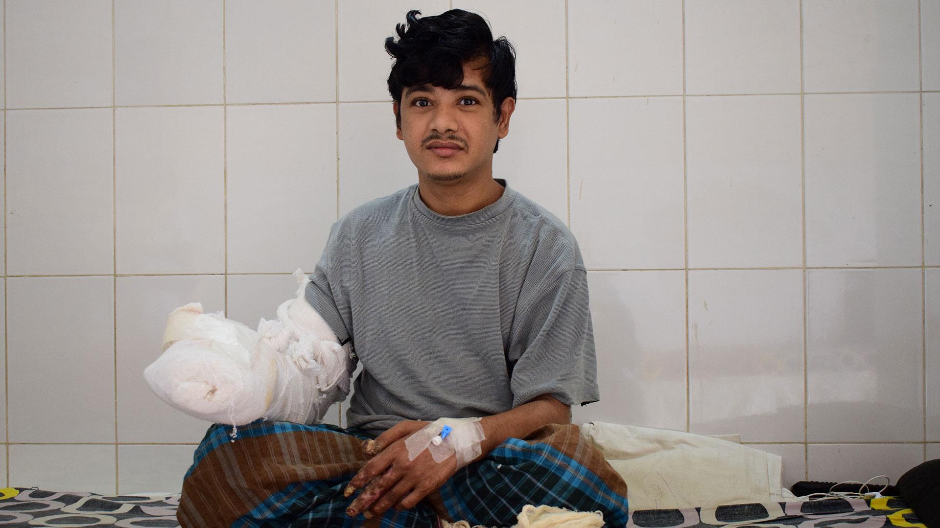 Abul Bajandar , tras la operación (AFP)