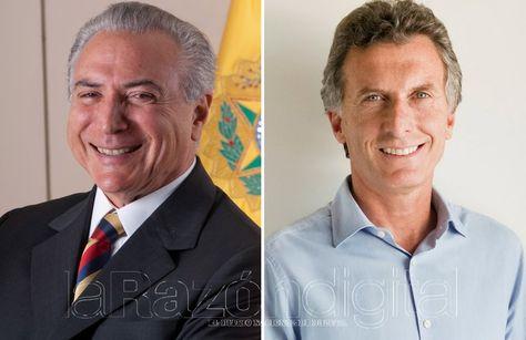 Michel Temer y Mauricio Macri (der.). Fotocomposición: La Razón Digital