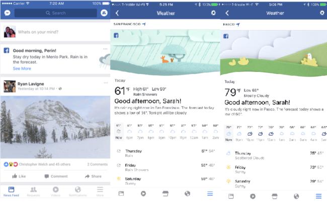novedades en la aplicación de Facebook