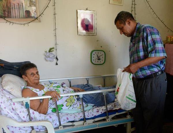 Dionisia Jiménez sufre la enfermedad hace 44 años. (El Listín)