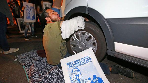 Siete manifestantes fueron arrestados (AP)