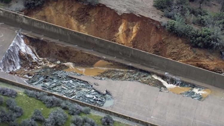 Publican videos del espectacular accidente de la presa más alta de EE.UU. en California
