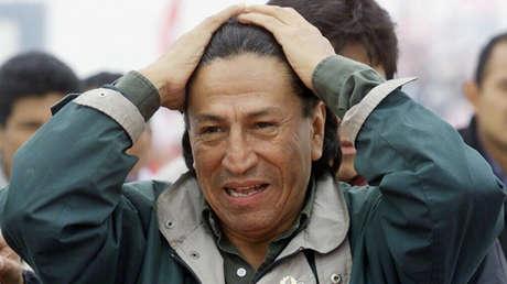 El entonces candidato Alejandro Toledo durante la campaña presidencial en Chimbote (Perú), el 25 de mayo de 2000.