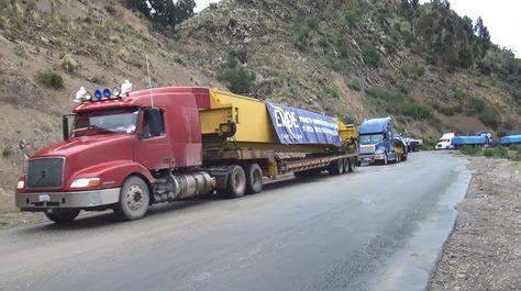 La maquinaría llega a territorio nacional. Foto: Ende