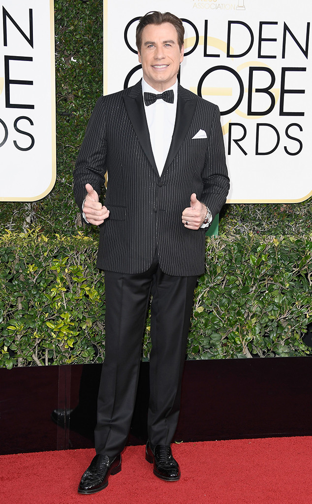 John Travolta, 2017 Golden Globes, Arrivals