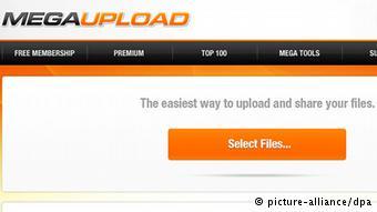 Screenshot Megaupload (picture-alliance/dpa)