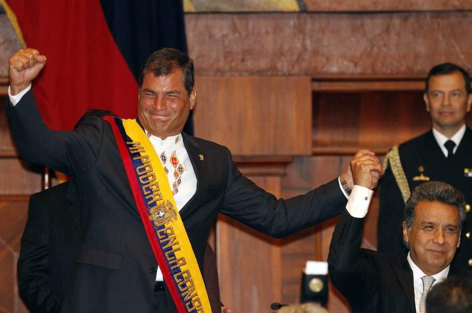 Leín Moreno con Rafael Correa en 2012 (EFE)