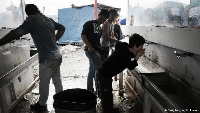 Niños refugiados en el ahora desmantelado campamento de Calais (archivo). (Getty Images/M. Turner)