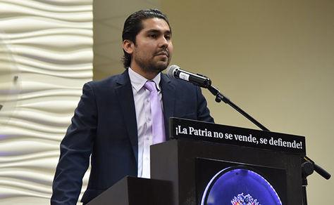 El procurador General del Estado, Pablo Menacho, en declaraciones a los medios. Foto: Procuraduría General del Estado
