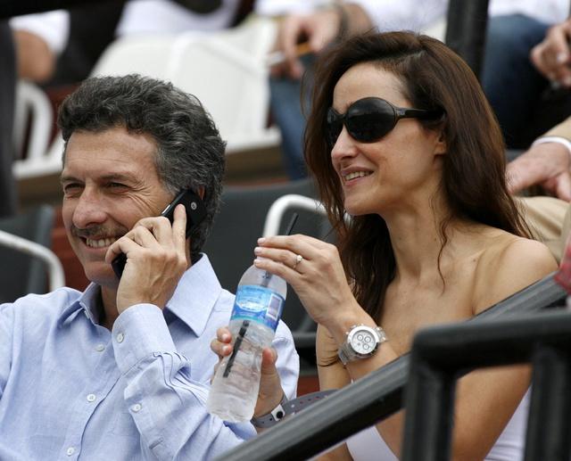 Con su pareja de entonces, María Laura Groba, en 2007.