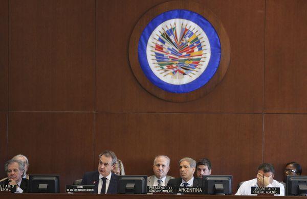 Reunión en la OEA (EFE)