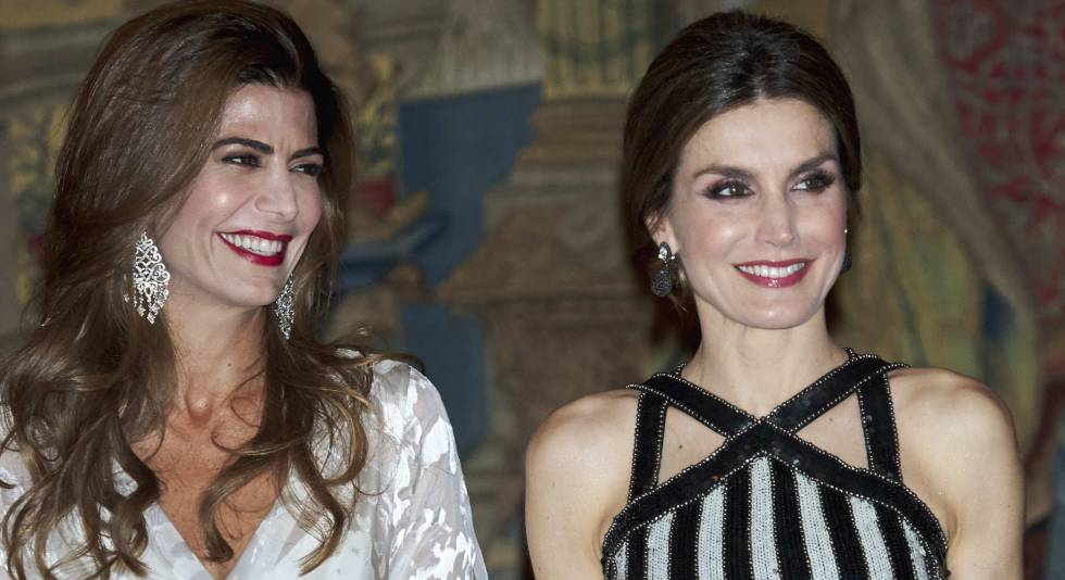 Juliana Awada y la reina Letizia, el pasado día 23 en el Palacio Real.