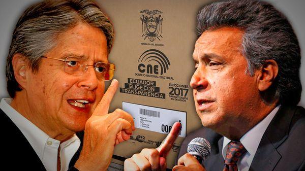 El opositor Guillermo Lasso y el oficialista Lenín Moreno se enfrentarán el 2 de abril en la segunda vuelta de las presidenciales.