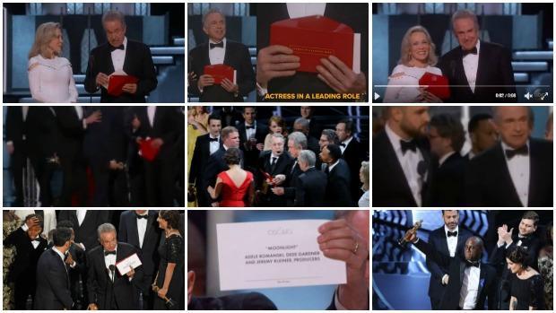 Oscars 2017: La secuencia del error: Así ha sido, paso a paso, la equivocación de Warren Beatty en los Premios Oscar