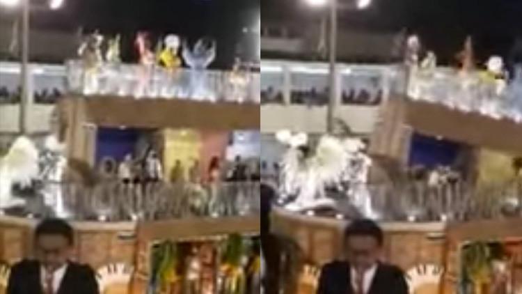 VIDEO: El desplome de una carroza del carnaval deja 12 heridos en Río