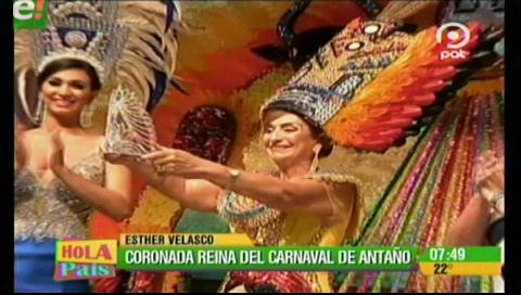 Esther Velasco coronada como Reina del Carnaval de Antaño 2017