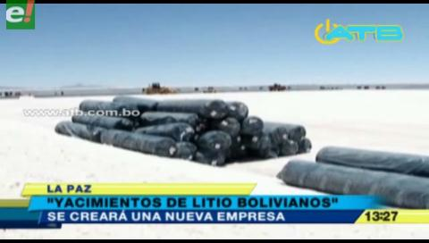 Crearán la empresa Yacimientos de Litio Bolivianos