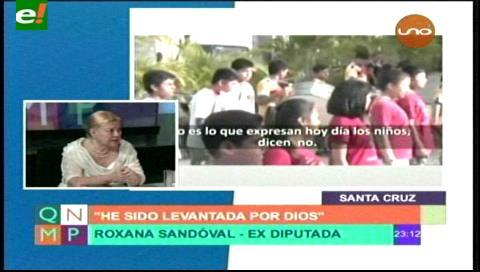"""Roxana Sandoval: """"Lo de la plaza con los niños fue un acto cívico"""""""