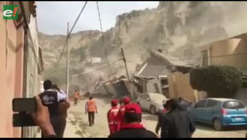 Al menos 5 casas quedan destruidas por deslizamiento en Auquisamaña