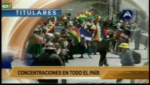 Video titulares de noticias de TV – Bolivia, noche del martes 21 de febrero de 2017