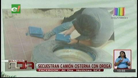 Felcn secuestra camión cisterna con droga