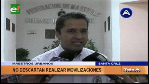 Maestros de Urbanos amenazan con movilizaciones por demandas no atendidas