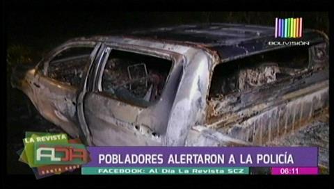 Continúan búsqueda de agricultor: No se hallaron restos humanos en la camioneta calcinada