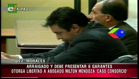 Justicia ordena libertad para Milton Mendoza involucrado en el caso consorcio de abogados