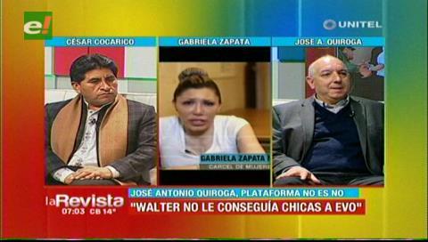 """Antonio Quiroga: """"Walter Chávez no le buscaba chicas a Evo"""""""