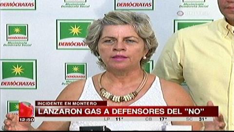 """Senadora Pincker calificó de amedrentamiento el """"ataque"""" en actos del NO en Montero"""