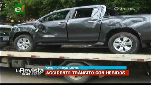 Choque de dos vehículos en el segundo anillo deja dos heridos