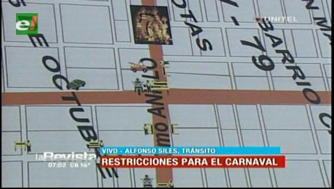 Santa Cruz: Ya está listo el plan de Tránsito para la seguridad en Carnaval