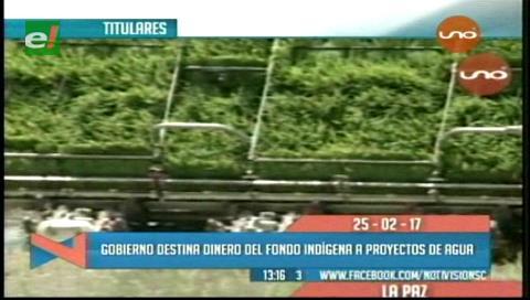 Video titulares de noticias de TV – Bolivia, mediodía del sábado 25 de febrero de 2017