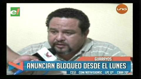 Guarayos: Anuncian bloqueo de carreteras a partir del 13 de febrero